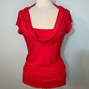 INC low cowl neck top with modesty panel